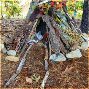 Photo of a typical Fairy House